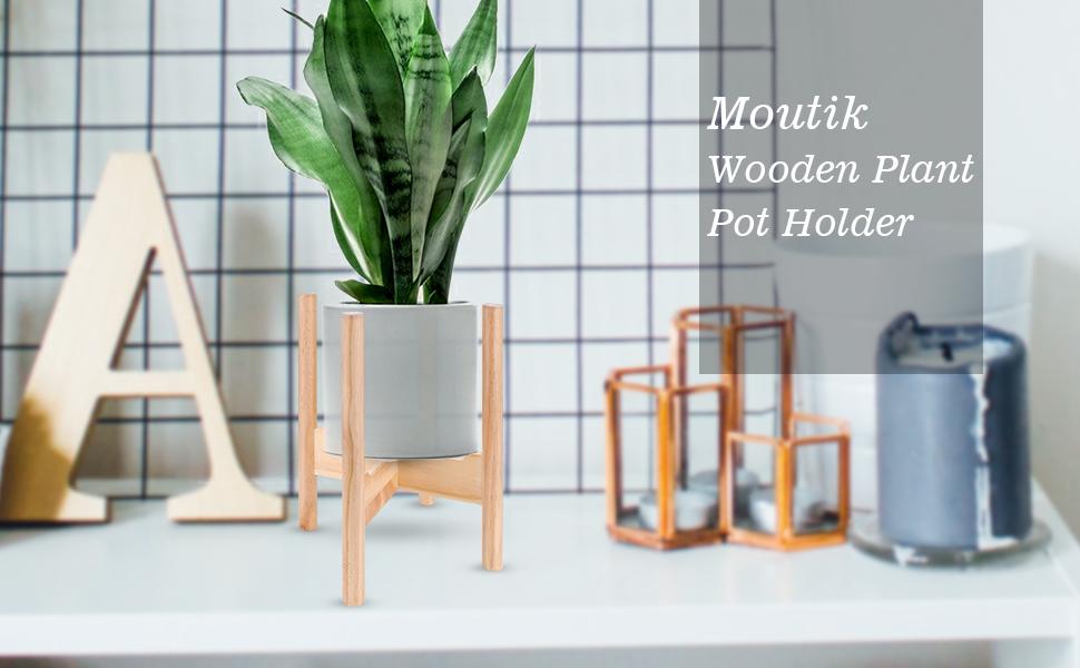 Amazon.com: Elegante soporte de madera para macetas de ...