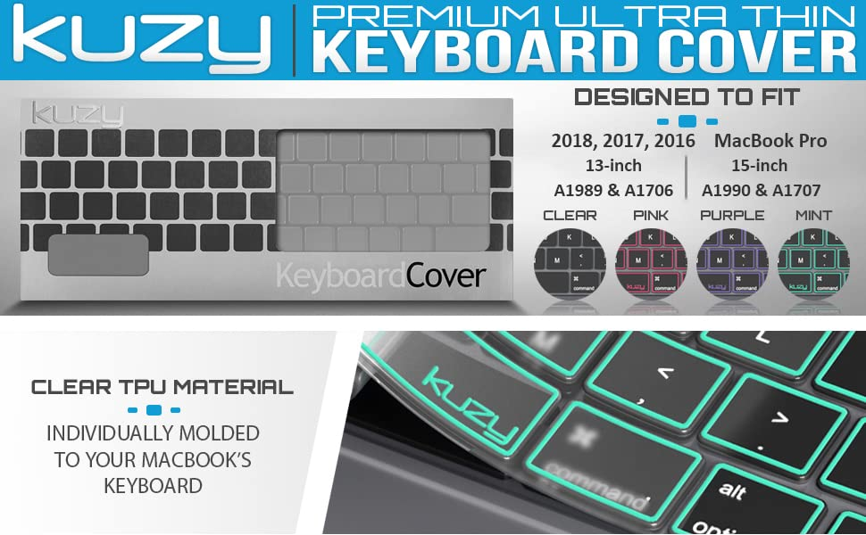 dc2601549b macbook pro 13 inch keyboard cover 2018 2017 2016 2019 macbook keyboard  cover kuzy new touch