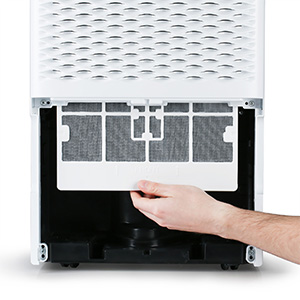 TOSOT Dehumidifier cleaning the filter