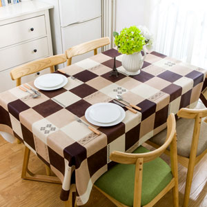 ALL SIZES F712-3 Traditional Patchwork PVC Vinyl Wipe Clean Tablecloth Code