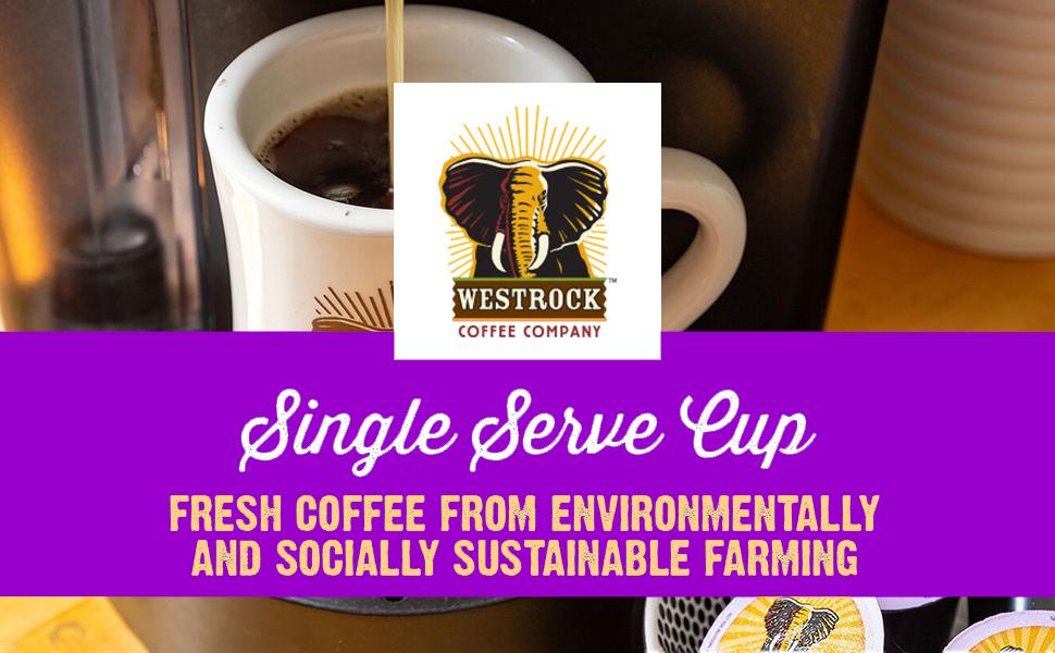Westrock Coffee Company East African Blend Single Serve Coffee Pod Medium Dark Roast