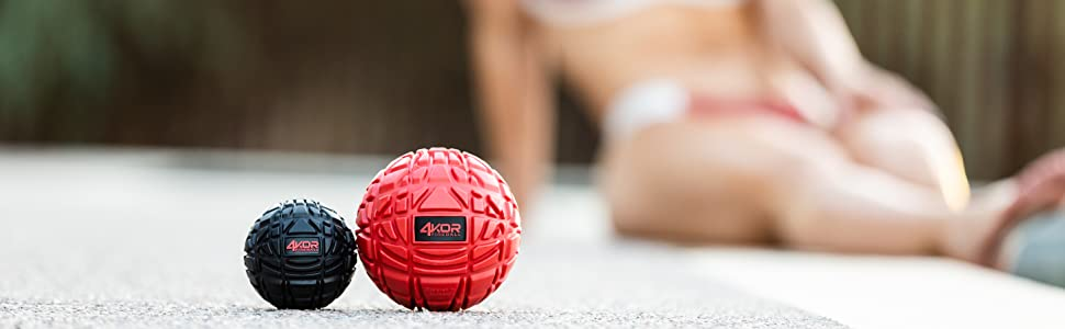 4KOR Fitness Mobility and Massage balls for deep tissue muscle recovery