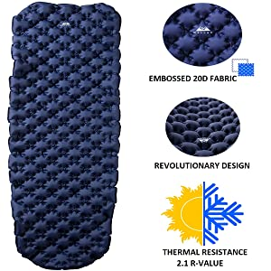 Sleeping Pad for camping hiking traveling comfortable durable rip-proof water proof tear resistant
