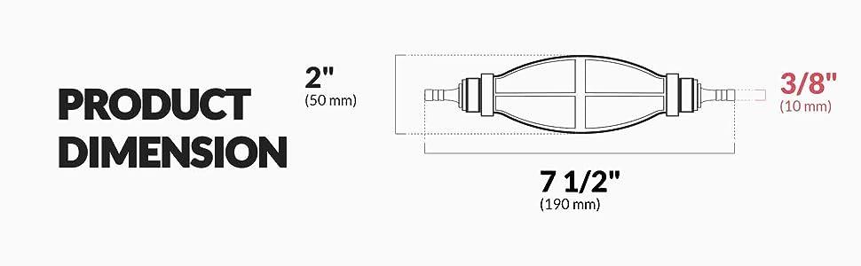 Five Oceans One Way Valve Universal Primer Bulb, 3/8