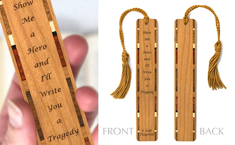 Amazoncom F Scott Fitzgerald Hero Quote Engraved Wooden Bookmark