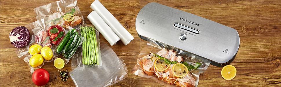 Amazon.com: Bolsas de sellador al vacío15 metros: Kitchen ...