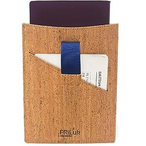 37158d35a9a8 Amazon.com | FRiLuk Vegan Leather Travel Wallet Passport Holder ...