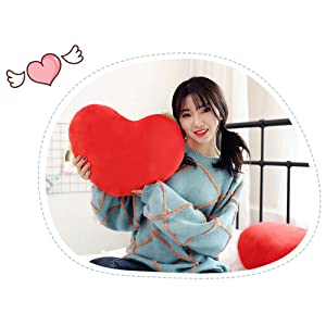 15 X 12 Inch Red HongMall Cute Plush Red Heart Pillow Cushion Toy Throw Pillows Gift for Friends//Children//Girls on Valentines Day Fit for Living//Bed//Dining//Sofa//Cars