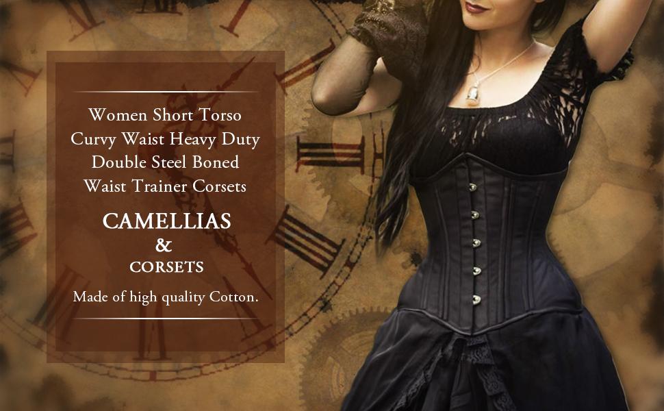 a3dc68a76af Camellias Women Short Torso Curvy Waist Heavy Duty Double Steel ...
