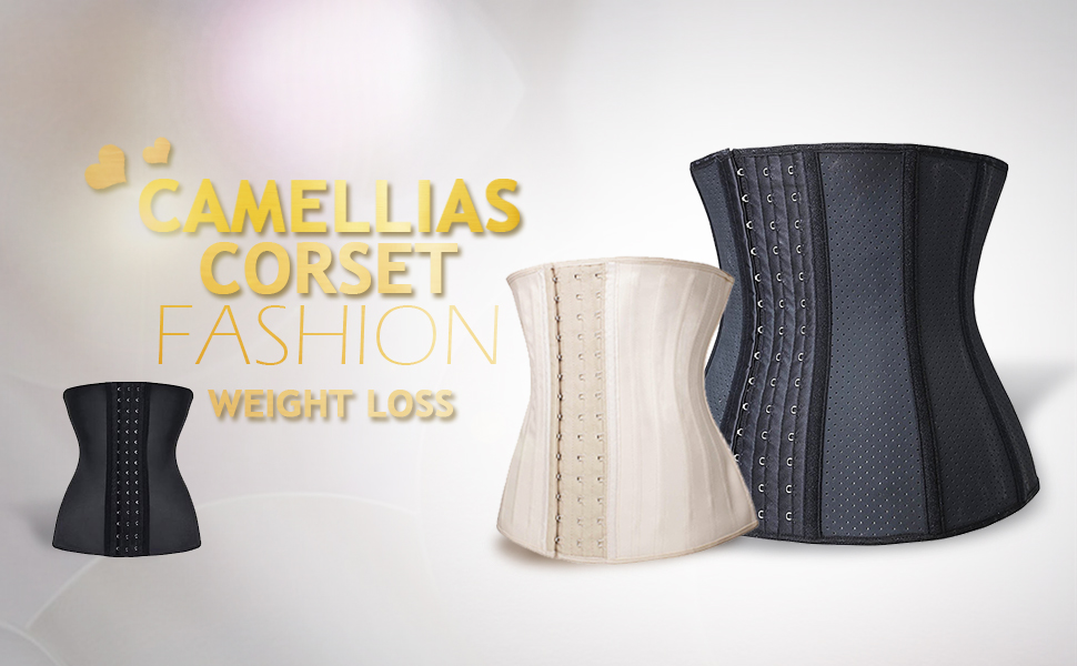 9588ebb130c Camellias Women s 3 Hooks Latex Waist Trainer for Weight Loss is a faja  style waist cincher and waist slimming garment that maximize your workout.