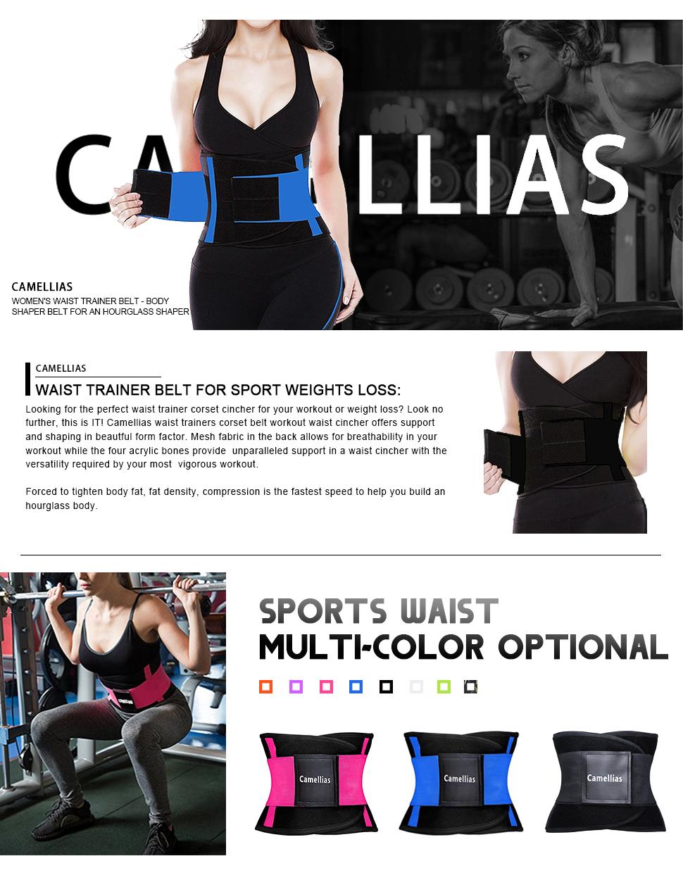 39553a54b42 Ideal Camellias Women Waist Trainer Belt Body Shaper Belly Wrap AC83