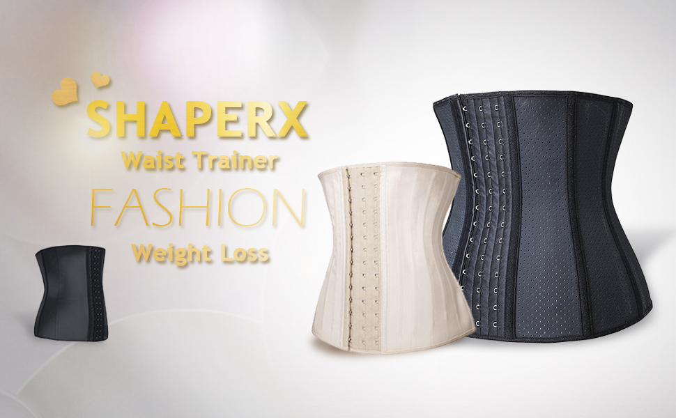 eb4f3d1a5 SHAPERX Women s 3 Hooks Latex Waist Trainer for Weight Loss is a faja style waist  cincher and waist slimming garment that maximize your workout.