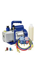 3.5CFM Vacuum Pump &  Manifold Gauge Set