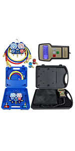 Refrigerant Electronic Charging Scale and Manifold Gauge Set