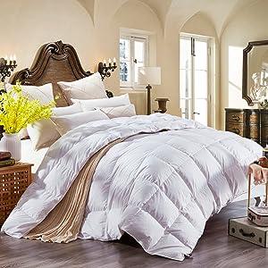 queen size down comforter is