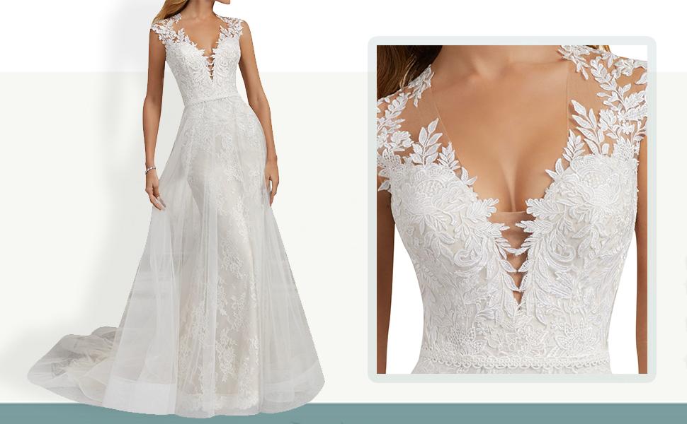 Wedding Dress Lace Bridal Dresses For Bride Mermaid A Line Wedding