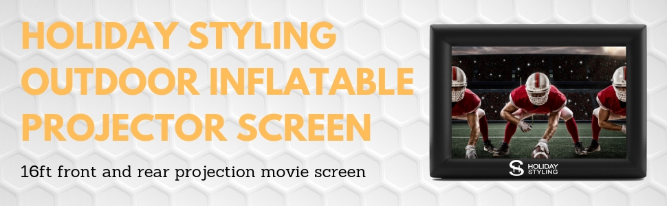 outdoor projector screen blow up inflatable movie projection screen 16 ft portable strong