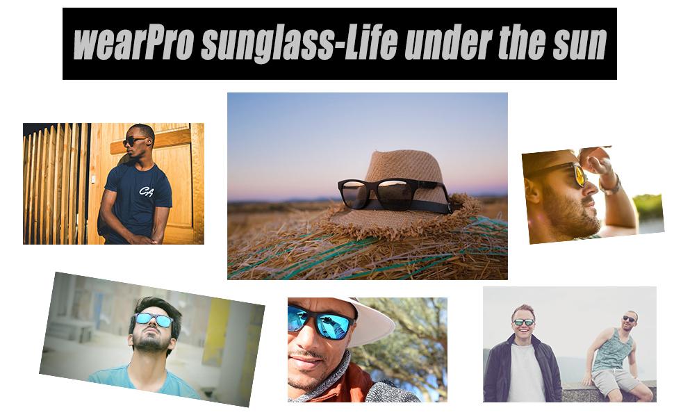 7f806e5783 Amazon.com  Polarized Wood Sunglasses for Men and Women -wearPro ...