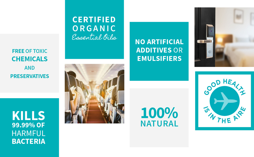 PlaneAire is Free of Toxic Chemicals, Kills 99.99% of Harmful Bacteria, and is Certified Organic