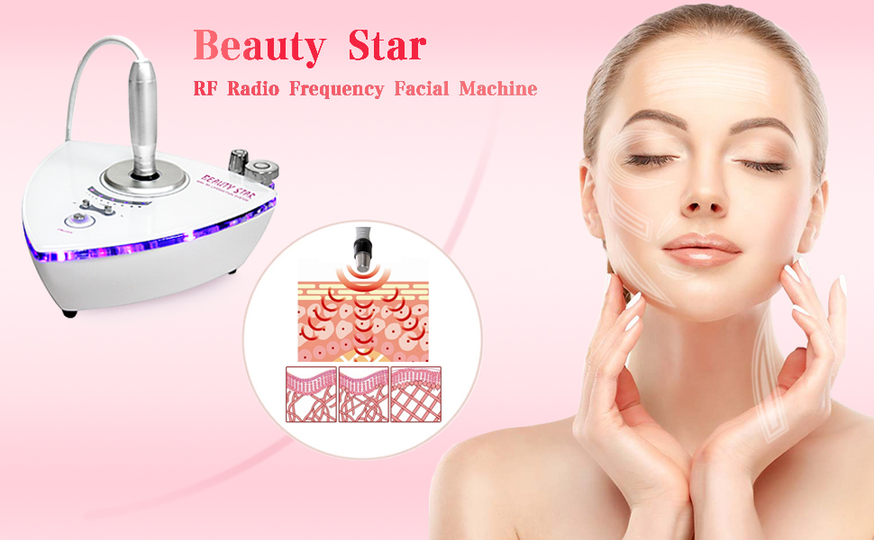 Beauty Star Home Use Mini RF Radio Frequency Facial Machine For Skin Rejuvenation Tightening Wrinkle Removal