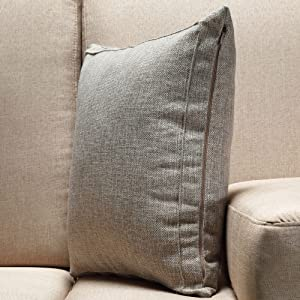 Pack of 2 Burlap Linen Throw Pillow Covers Cushion Cases