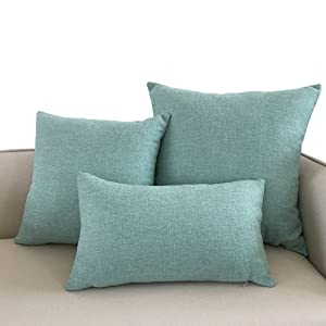 Jepeak farmhouse / modern decorative cotton linen throw pillow covers