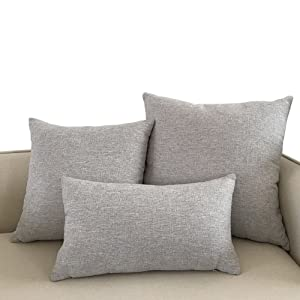 Jepeak home farmhouse modern decorative cotton linen throw pillow covers