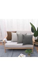 Jepeak burlap linen throw pillow cover cushion case