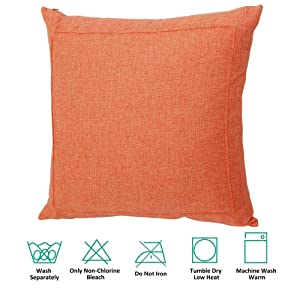 Jepeak Burlap Linen Throw Pillow Case Cushion Cover