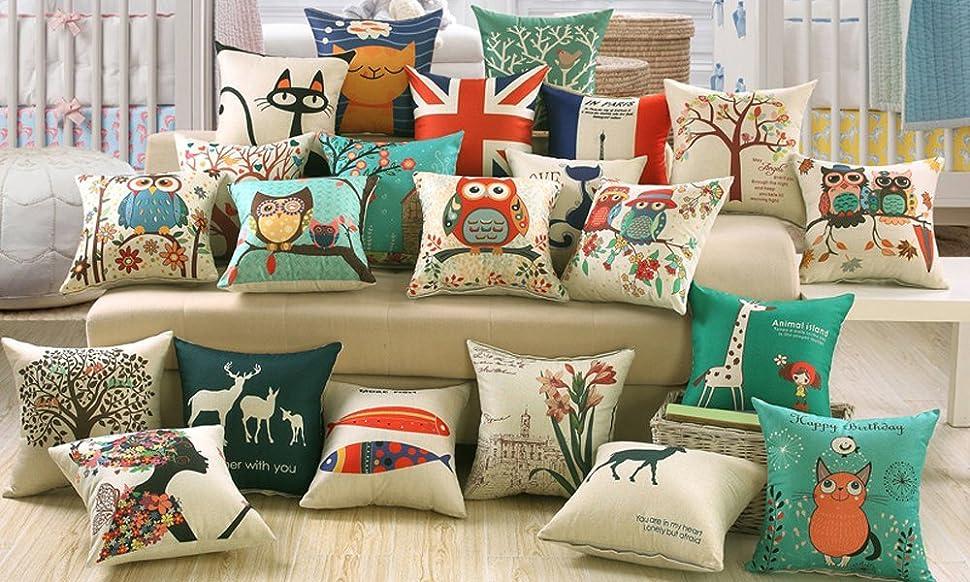 Amazon Jepeak Cotton Linen Throw Pillow Case Cushion Cover Custom Expensive Decorative Pillows