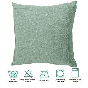Jepeak Burlap Linen Throw Pillow Case Cushion Cover