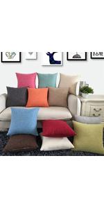 Cotton Linen Throw Pillow Cover Cushion Cases