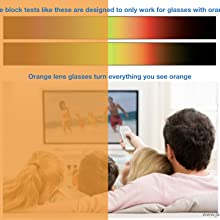 J+S Vision Anti-blue light shield computer glasses online testing accurate or not possible orange