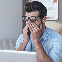J+S computer glasses headache stress strain adjustment period it takes time