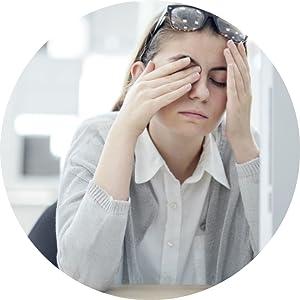 J+S Anti-blue light shield computer glasses sore eyes dry eyes eye strain stress
