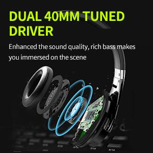 40MM Driver Deep Bass