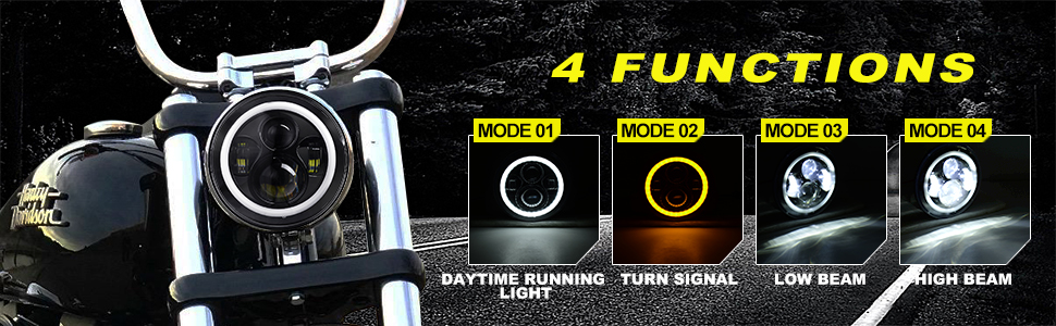 Home Cooperative 1pcs Led Headlights 7 7 Inch Round Motorcycle Driving Light For Harley Davidson Moto Motorcycle Touring Electra Glide Chills And Pains