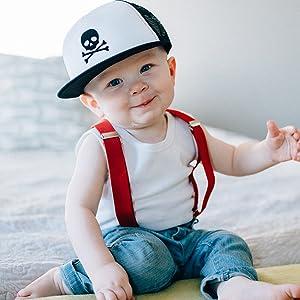 c2f4d944e Knuckleheads Baby Boy Infant Trucker Hat Sun Mesh Baseball Cap