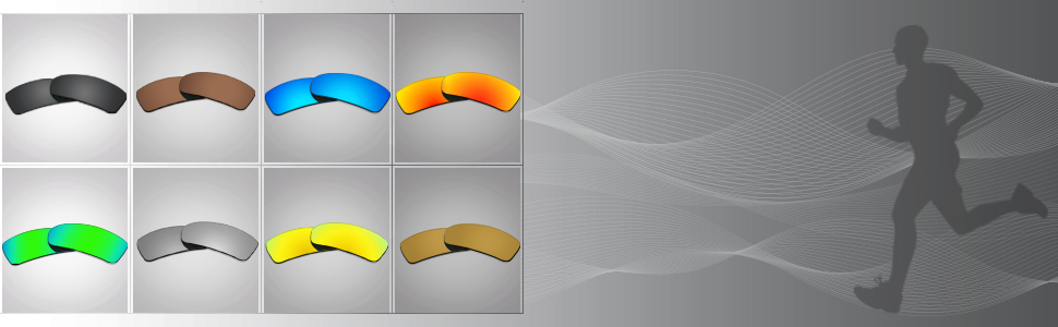771a57203d Eight Popular Colors for Different Surrounding. All the color lenses are  polarized ...