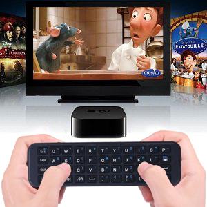 iPazzPort Bluetooth Mini Wireless Keyboard for Apple TV and Apple TV 4K,  Apple TV 4th Generation, Physical Keyboard to Type and Serach KP-810-56S