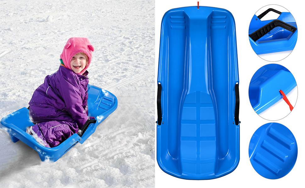 AGPTEK Plastic Outdoor Toboggan Snow Sled for Child