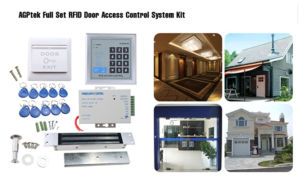 Are You Looing For A Method For Controlling Access Safely And  Automatically? AGPtek Full Set RFID Door Access Control System ...