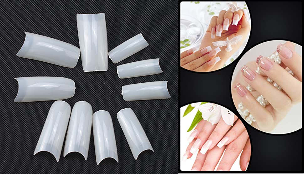 Popular Brand Professional Natural False Nail Art Tips Acrylic Well Uv Gel All Size 0-9 Health & Beauty Nail Care, Manicure & Pedicure