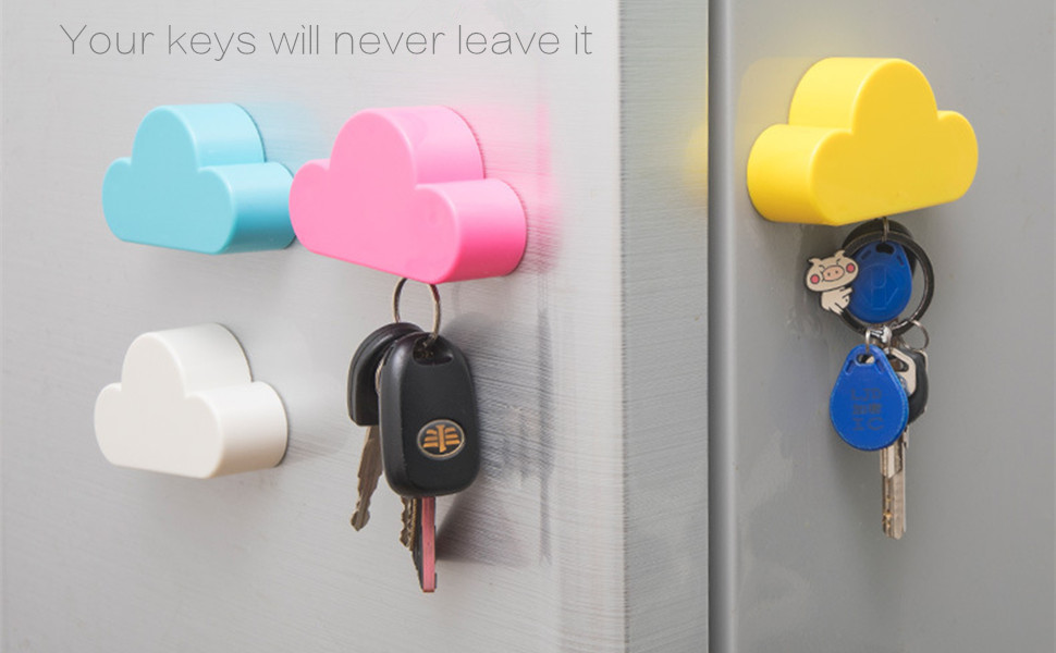 QTMY White Cloud Magnetic Wall Key Holder,White