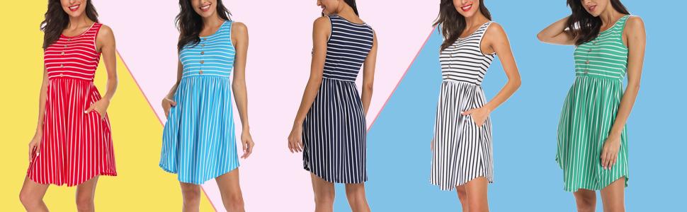 sleeveless dresses for women knee length