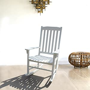 Made From Solid Wood, This Rocking Chair Is Scratch Resistant, Stain  Resistant And Built To Last.