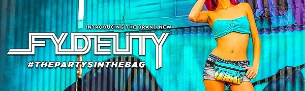 Fydelity Fanny Packs Fanny Pack Bum Bag Waist Bag Ultra Slim Battle the Bulge