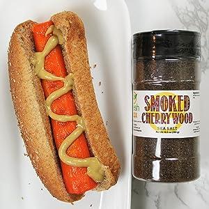 FreshJax Smoked Cherrywood Sea Salt - Smokey Carrot Dogs