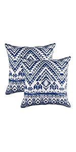 TreeWool Navy Blue Throw Pillow Cover - French Accent