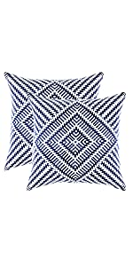 TreeWool Navy Blue Throw Pillow Cover - Kaleidoscope